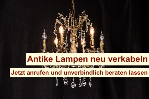 Antike Lampen neu verkabeln Berlin